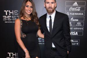 La manita de Messi y la sonrisa de Antonella Roccuzzo, su mujer