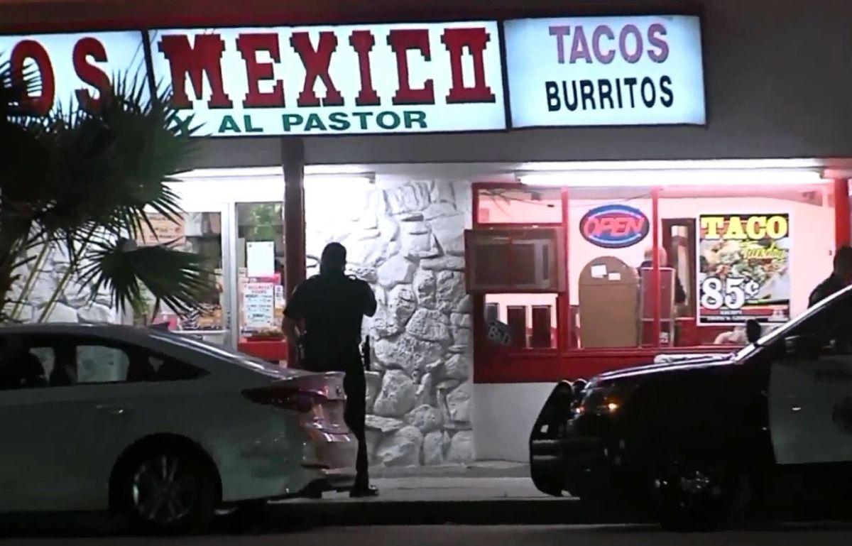 Cinco hombres armados asaltan taquería en Long Beach