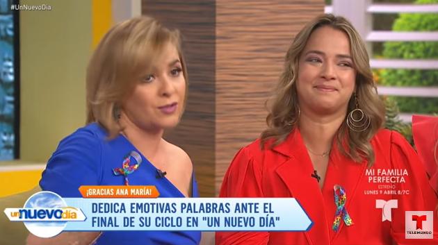 """Video: Adamari López llora la salida de Ana María Canseco de """"Un Nuevo Día"""""""