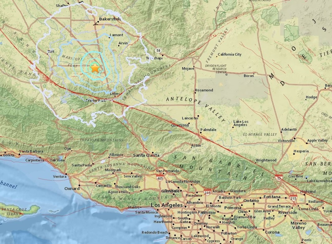 Sismo sacude el centro de California