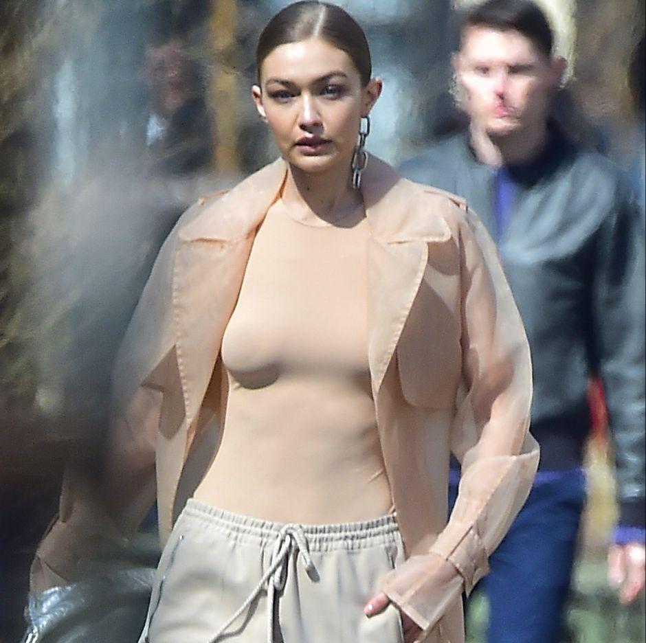 Fotos: Captaron a la modelo Gigi Hadid sin ropa interior