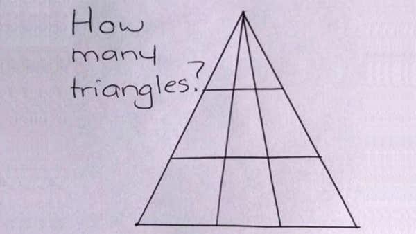 Reto viral: Cuántos triángulos ves en esta imagen
