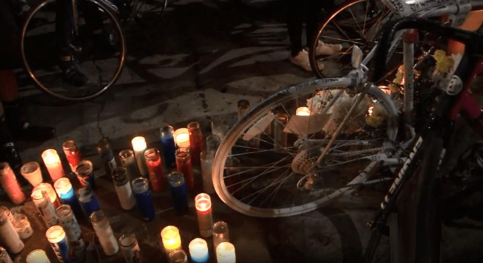 Los amigos del ciclista asesinado en L.A. celebran una segunda vigilia