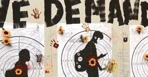 Padres de estudiante asesinado en Parkland crean mural en DTLA para debatir sobre la violencia armada