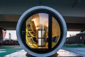 James Law: el ingenioso arquitecto que hace casas dentro de grandes tubos de concreto