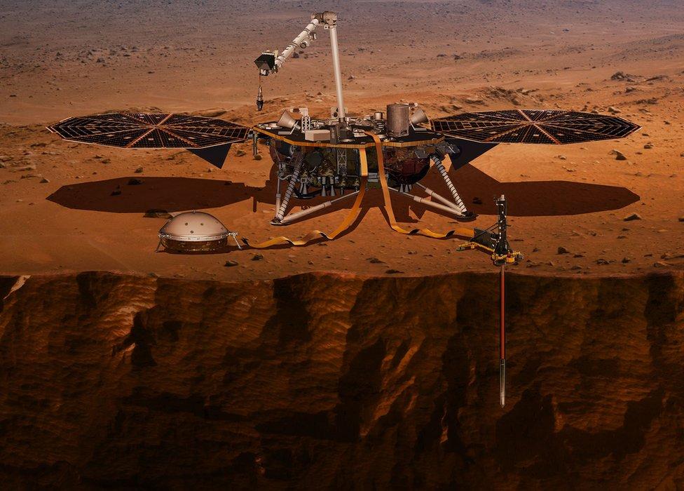 """4 """"misterios"""" de Marte que investigará la sonda Mars InSight de la NASA"""