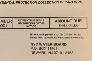 Ancianos de Brooklyn reciben factura de agua por $44 mil