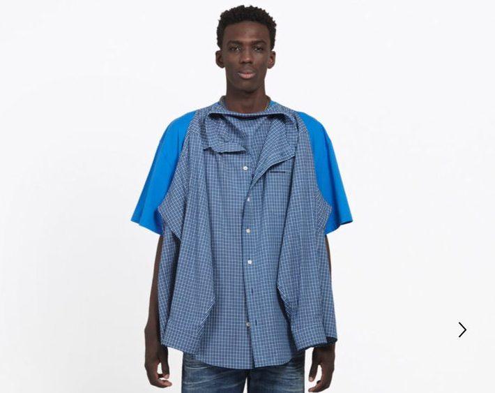 """Balenciaga y su nueva """"camisa-camiseta"""" que genera controversia en Internet"""