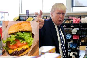 """La """"forma curiosa"""" en que Trump come sus amadas hamburguesas"""