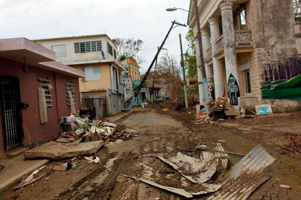 """El huracán """"María"""" devastó la isla."""