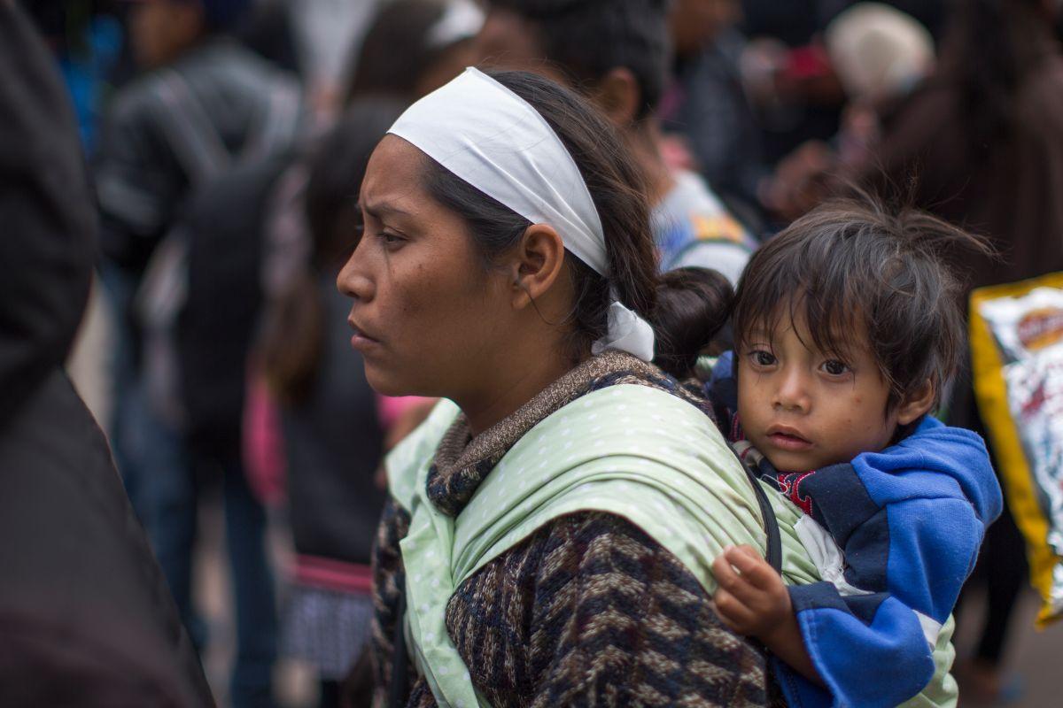 La caravana migrante en la frontera sur. Getty Images