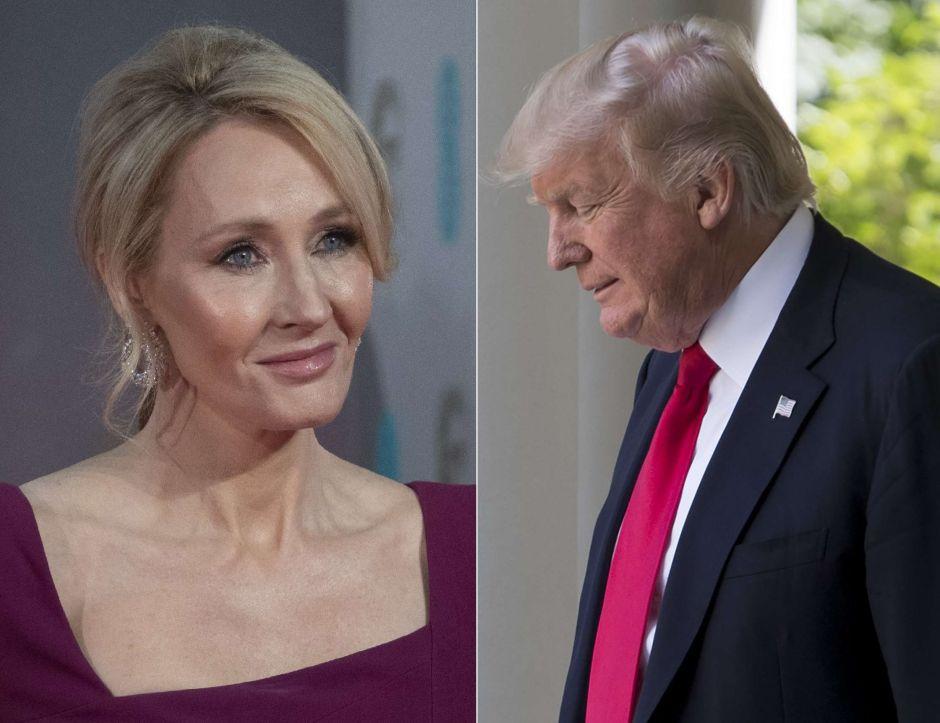 """J. K. Rowling: """"Trump es demasiado tonto para saber lo tonto que es"""""""