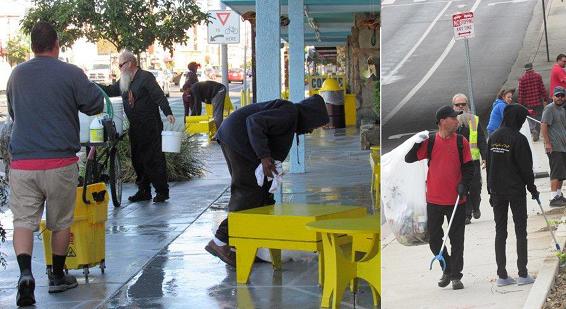Organización proporciona trabajo y ducha portátil a personas sin hogar en el Valle de San Fernando