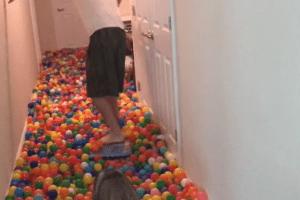 Un hombre compra 5,400 pelotas en Toys R Us
