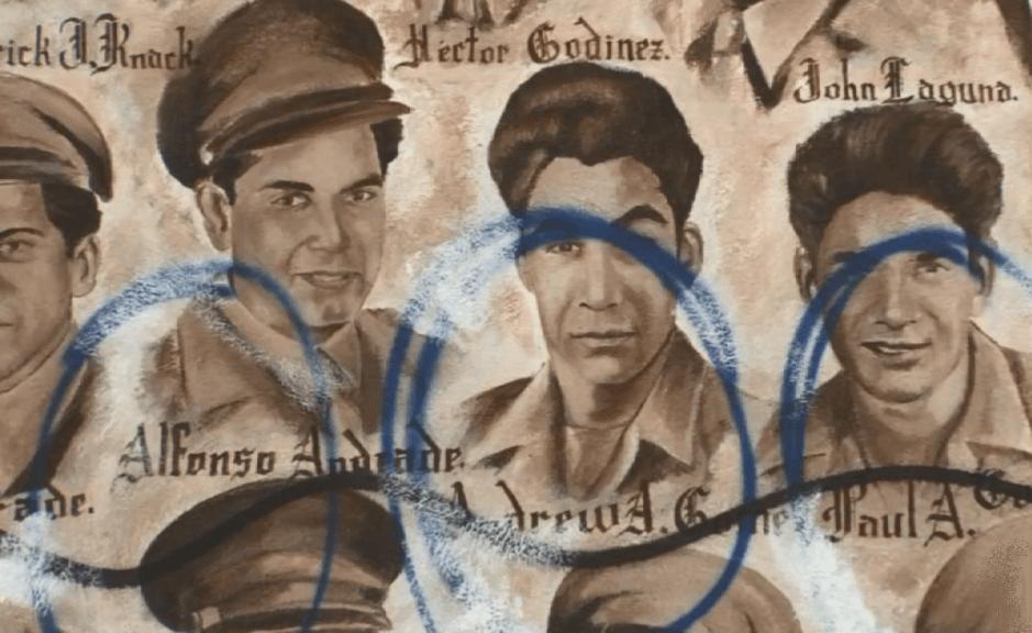 Hispano acusado de vandalizar el mural sobre veteranos mexicanos de Santa Ana