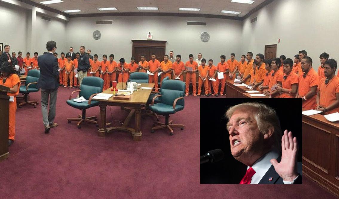 """La foto que evidencia la """"Operación Streamline"""" del gobierno para acelerar deportaciones masivas"""