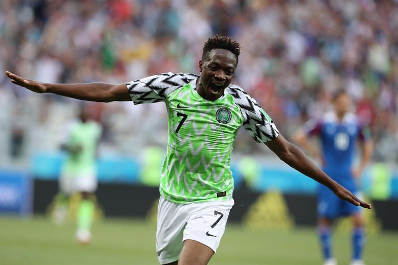 Ahmed Musa fue el autor de los dos goles de Nigeria sobre Islandia