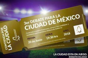 Todo sobre el #DebateChilango entre candidatos a Jefatura de Gobierno de la CDMX