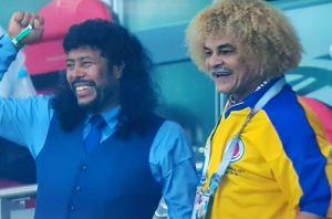Higuita y Valderrama se funden en un abrazo por el triunfo de Colombia