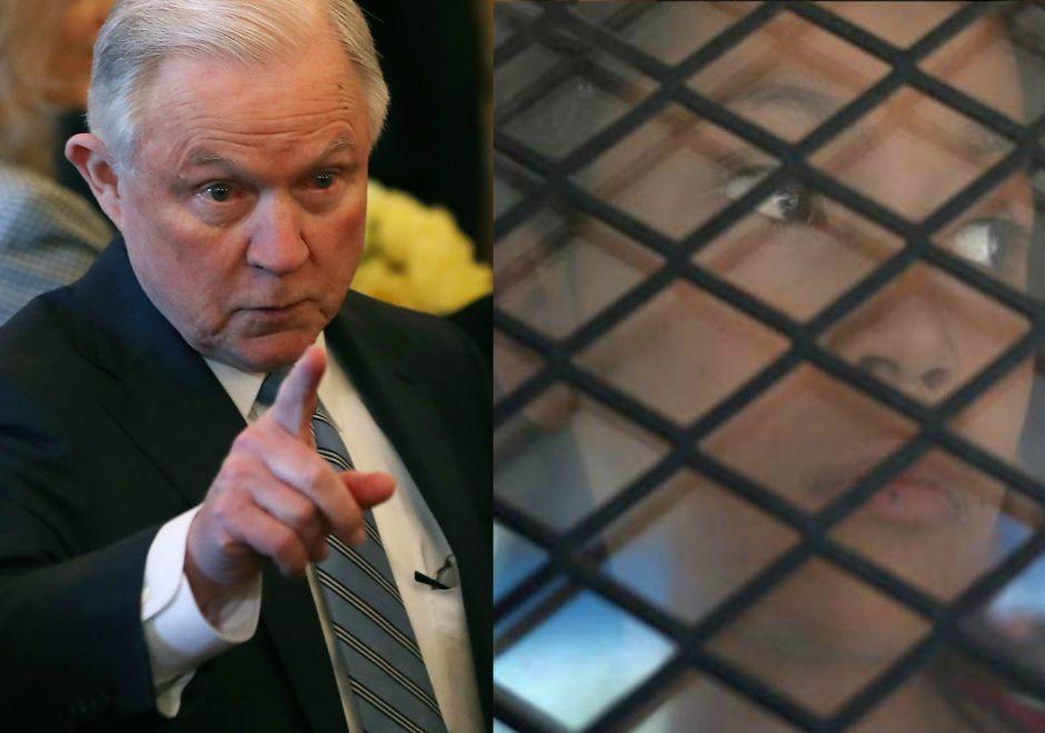 Sessions dice que el muro fronterizo acabaría con la necesidad de separar a familias inmigrantes