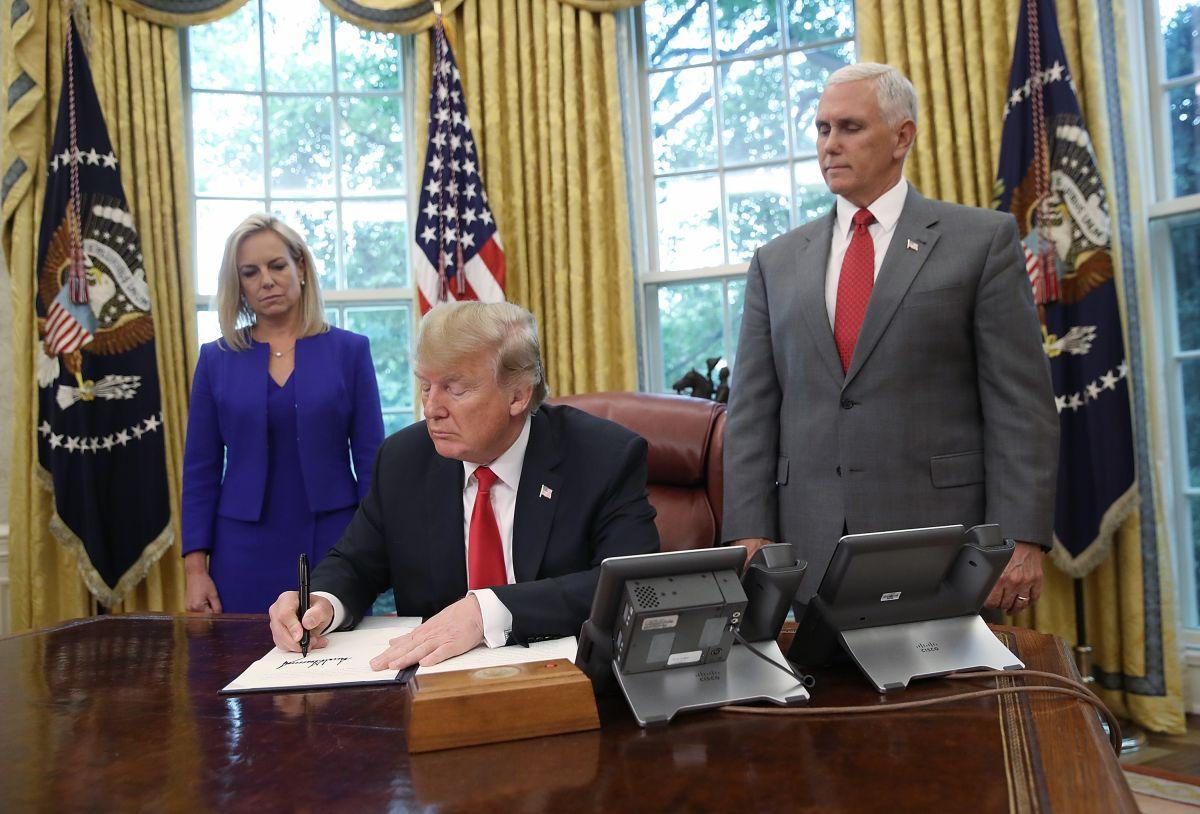 El presidente Trump firmó la orden ejecutiva este miércoles.