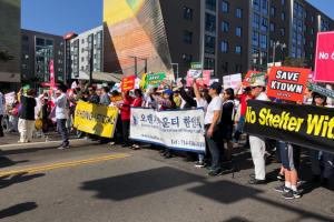 Nueva protesta contra el refugio de Koreatown