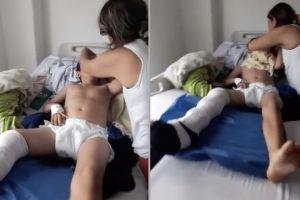 """""""Yo sí me quiero morir"""", dice niño que sufrió fractura de pierna y no es atendido"""