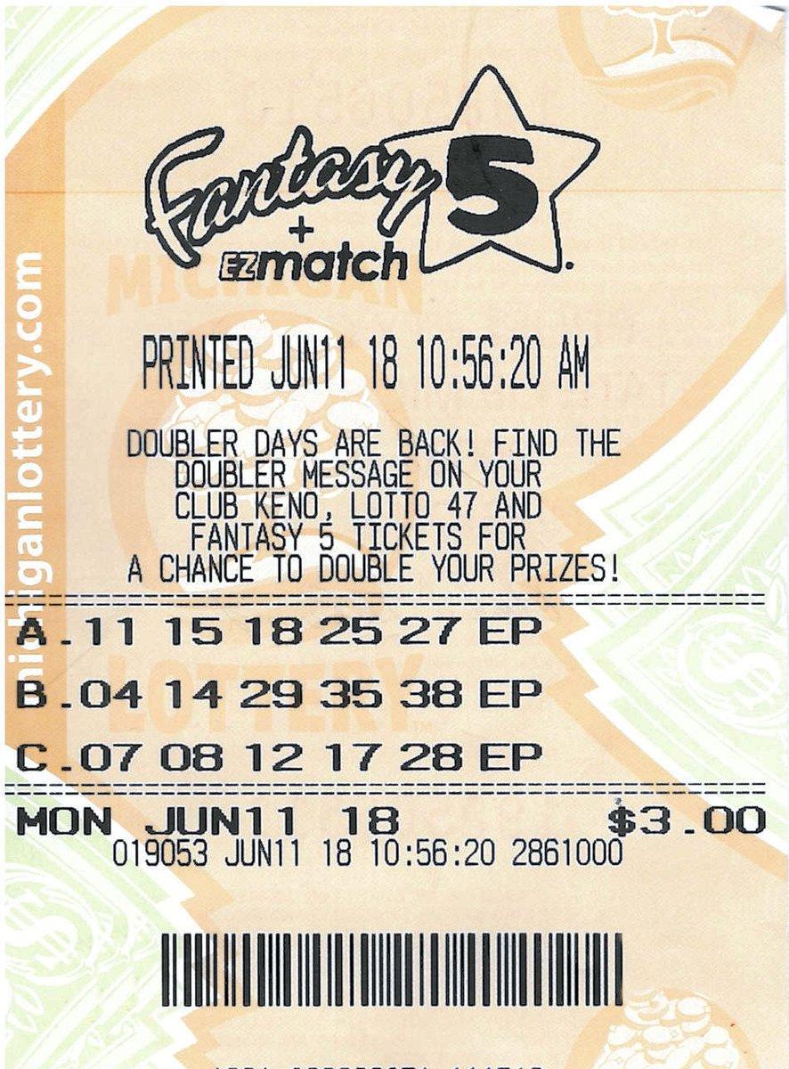 El hombre de Michigan ganó el premio gordo de esta lotería de Fantasy 5.