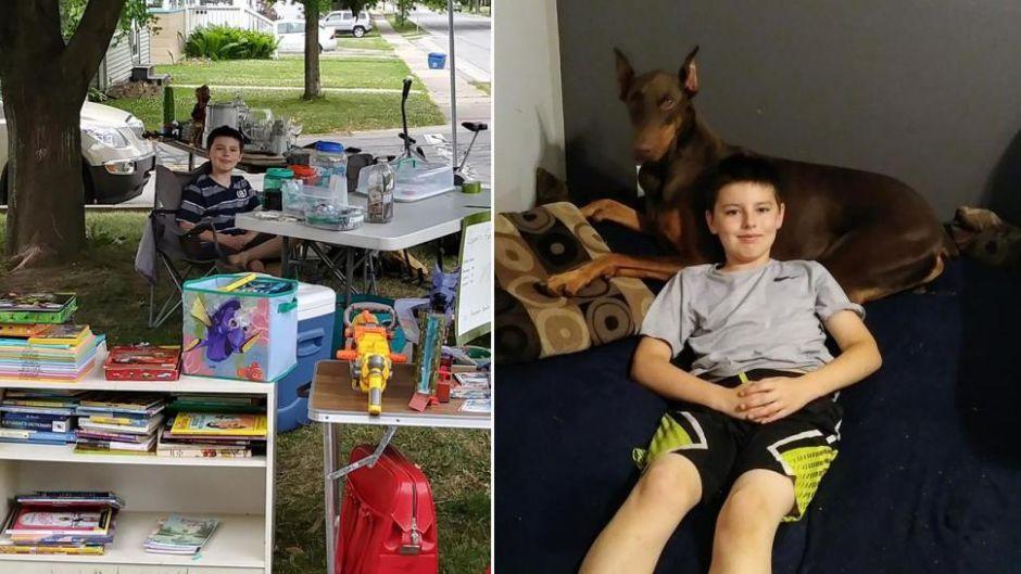 Un niño de 10 años vende sus juguetes para tratar de salvar la vida de su amado perro.