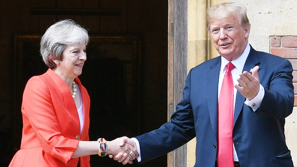 Trump hizo el ridículo con 4 explosivas declaraciones en su visita a Reino Unido