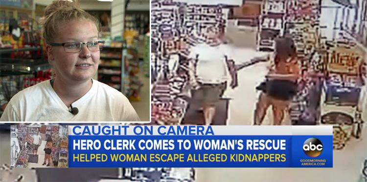 Empleada de una gasolinera salva a una mujer secuestrada