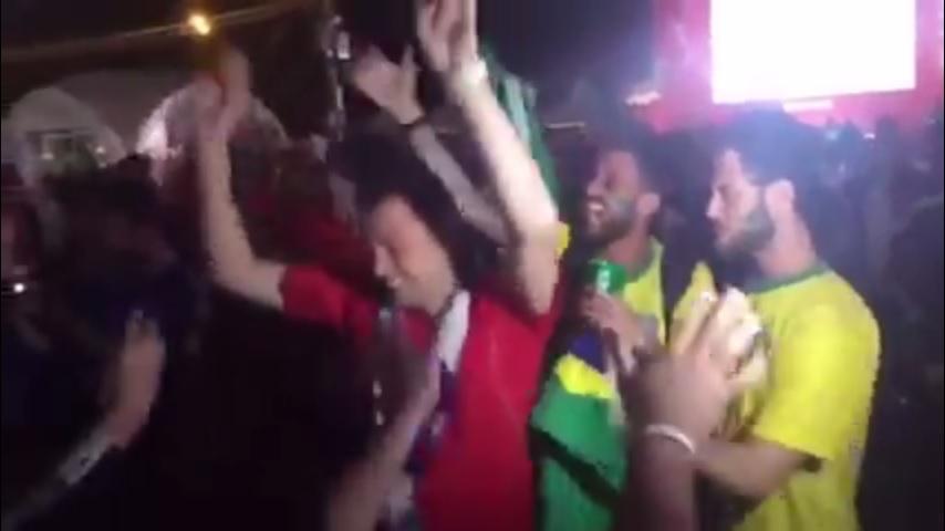 Aficionados argentinos y brasileños protagonizaron un conato de bronca en un FanFest