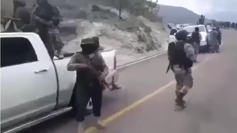 Presuntos integrantes del cártel Jalisco Nueva Generación.