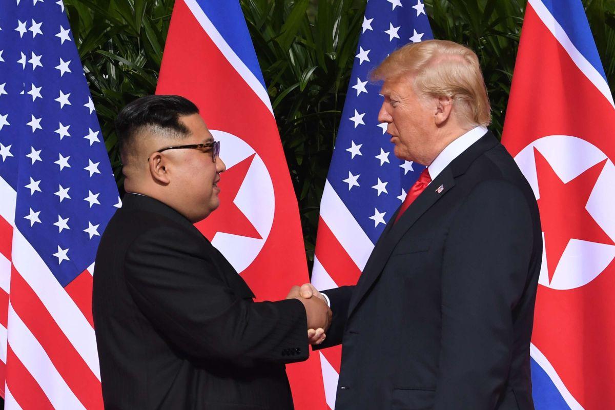 Kim Jong-un y Donald Trump se reunieron en Singapur.