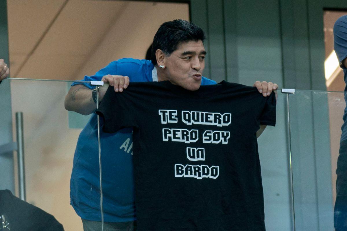 Diego Maradona arremetió contra un sobrino en un programada de televisión en vivo