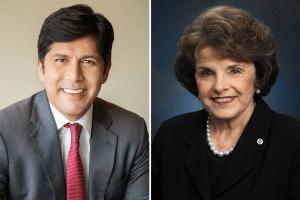 Los líderes demócratas avalan al activista Kevin de León sobre la senadora titular Dianne Feinstein