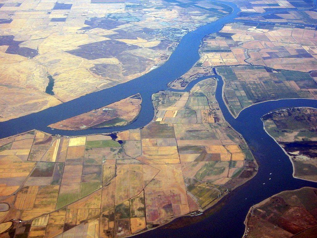 El delta Sacramento-San Joaquin.