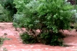 Las torrenciales lluvias afectan a los turistas del Gran Cañón y los vecinos ofrecen lo poco que tienen