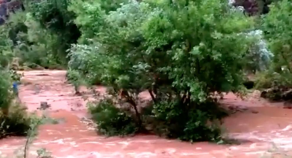 La lluvia hizo que aumentara el nivel del río arrastando todo a su paso.