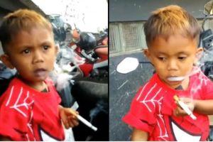 Niño de 2 años adicto al tabaco, fuma más 40 cigarrillos al día