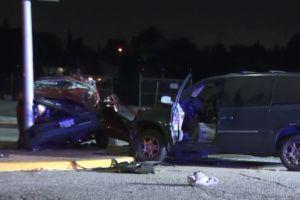 Cinco heridos, dos de ellos graves, en choque de autos en Baldwin Park