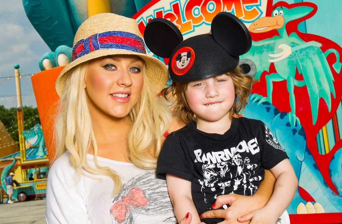 Christina Aguilera y su hijo Max