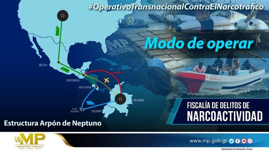 Operativo conjunto contra narcos del cártel Arpón de Neptuno atrapa a 23 en 4 países