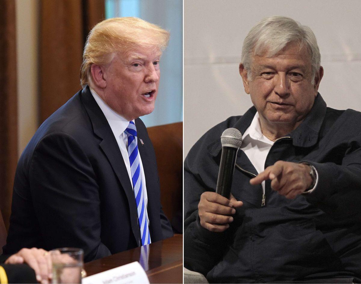 El mandatario Donald Trump y el presidente electo de México, Andrés Manuel López Obrador.