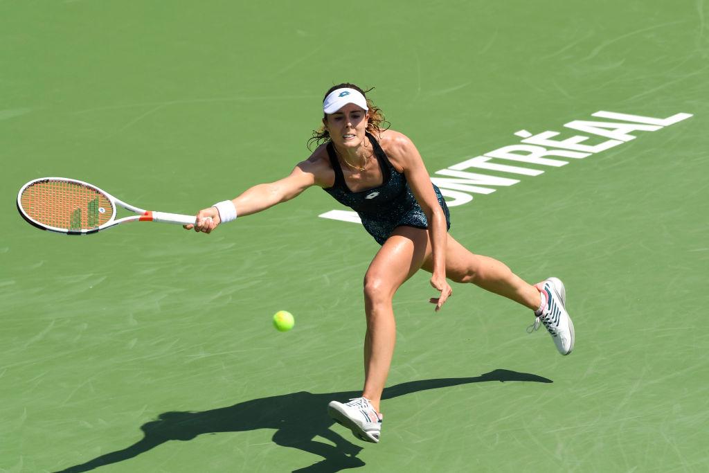 US Open: Alize Cornet se cambia la remera y desata polémica sexista