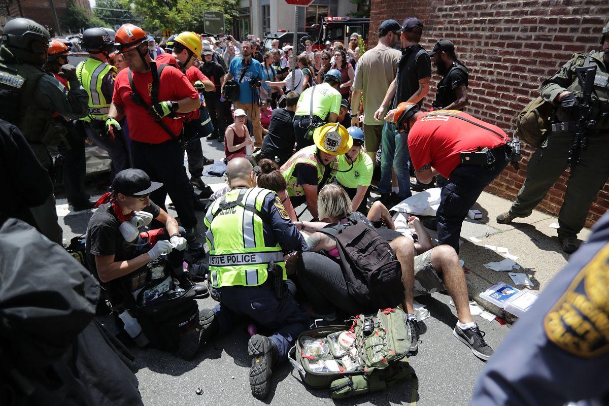 Los disturbios ocurrieron en Charlottesville el 12 de agosto de 2017.