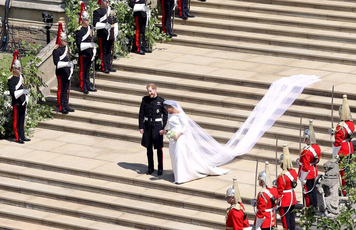 Meghan Markle se tendrá que desprender de su imponente vestido de bodas