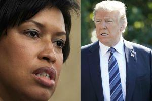 """Alcaldesa de D.C le propina """"derechazo"""" a Trump y a su fallido desfile militar"""