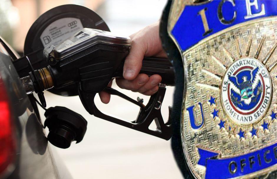 Inmigrante para a poner gasolina y ICE se lo lleva preso frente a su hija