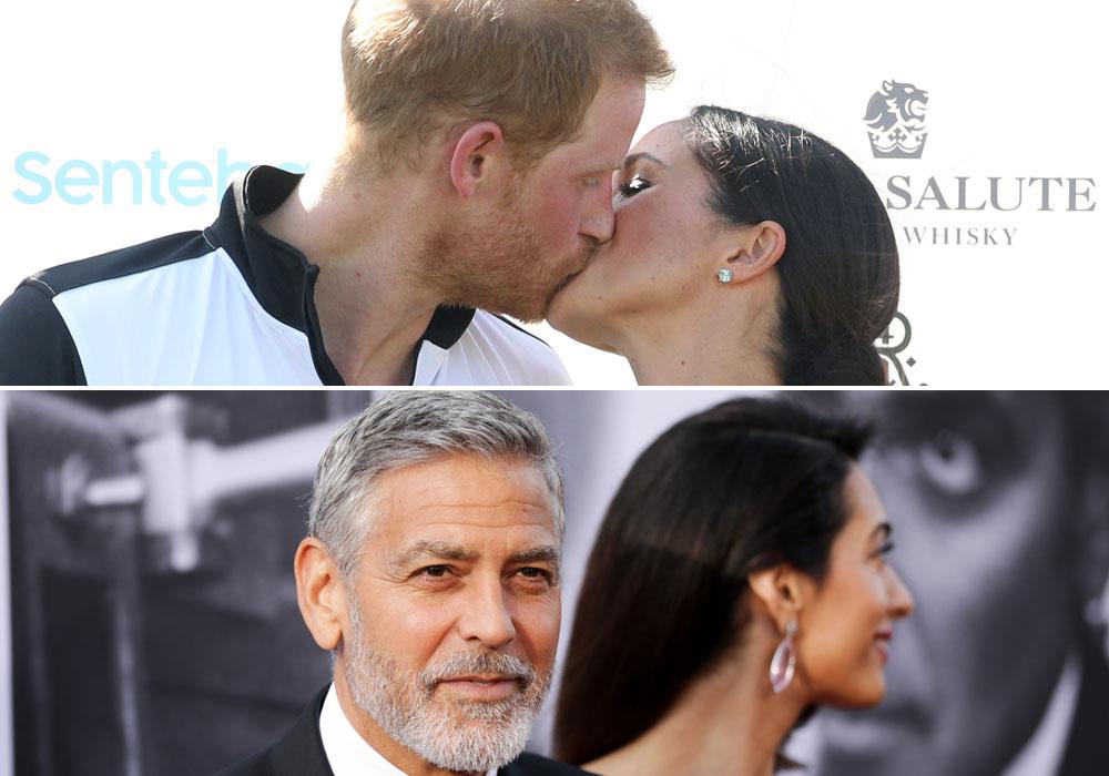 Descubren a Meghan Markle y al príncipe Harry en viaje de parejitas con los Clooney